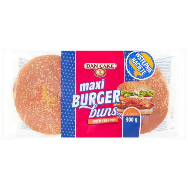 DanCake Burger 300g MAXI Buns with Sesame (4ks)