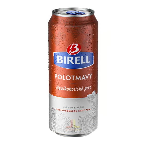 Birell ple.0,5L Polotmavý, polotmavé nealkoholické pivo