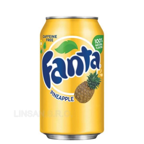 USA 355ml Fanta Pineapple Ananas