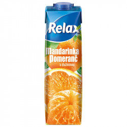 Relax 1L mandarinka pomeranč s dužinou