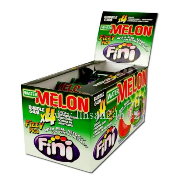 Fini 20g Fizzy Water Melon bubble gum 4x