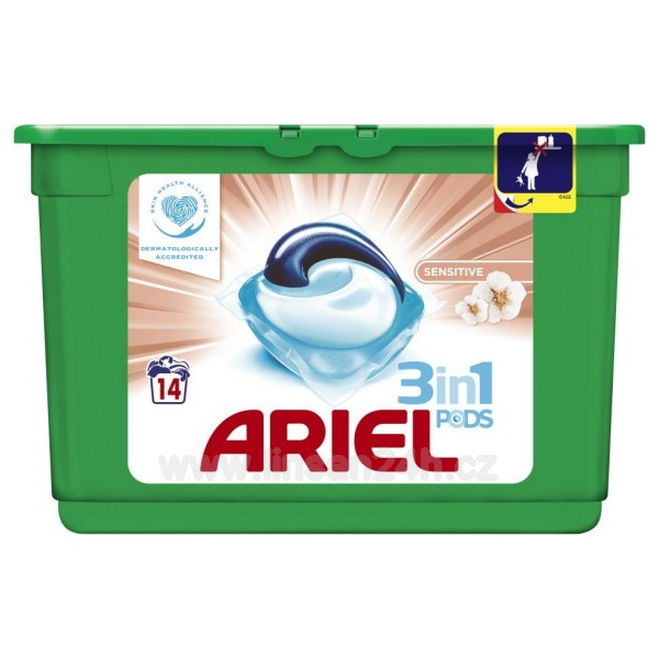 Ariel 14ks Gelové Kapsle- Sensitive