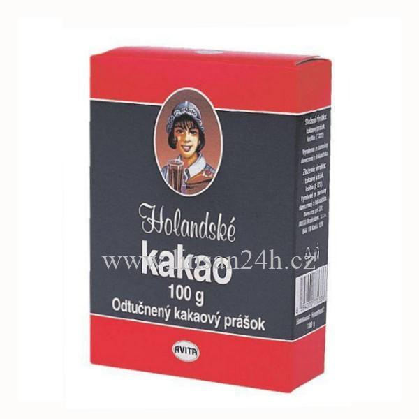 Holandské Kakao 100g Krabice Kávoviny