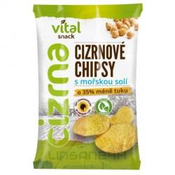 VitalCizrna 65g Cizrnové Chipsy s morskou solí