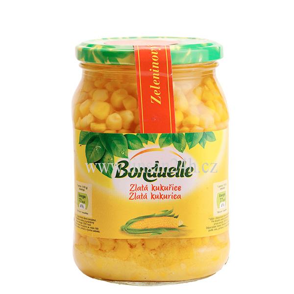 Bonduelle 580ml 530g SKLO Zlatá Kukurice
